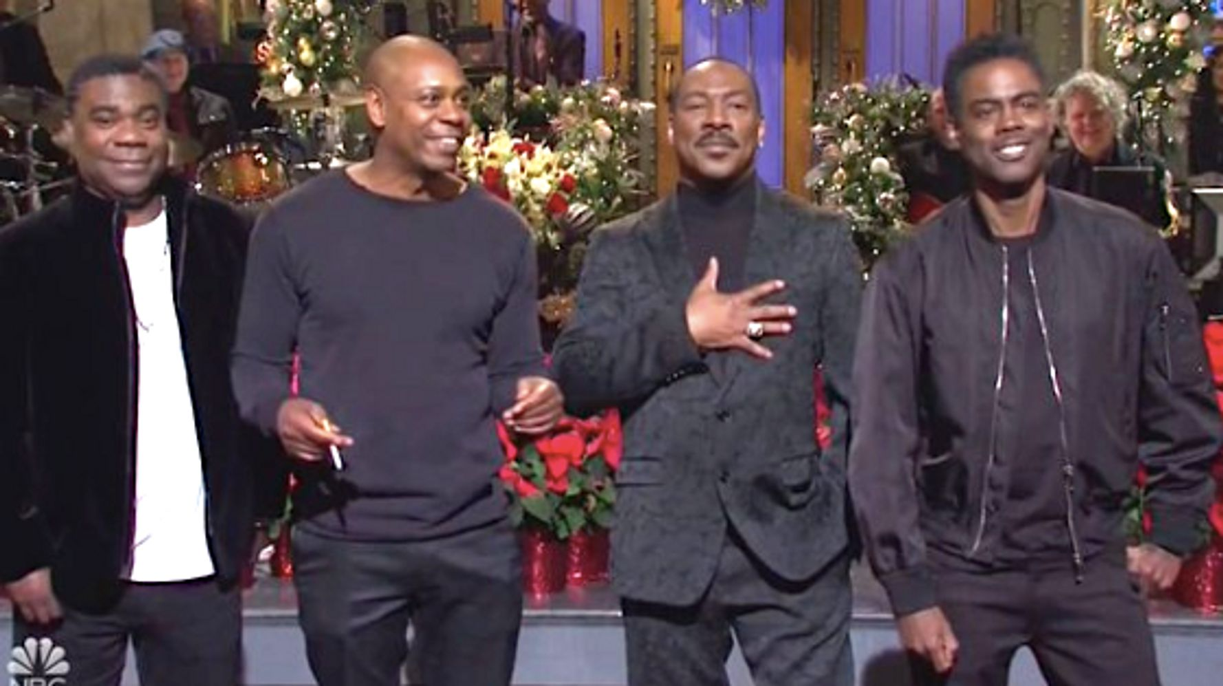 Eddie Murphy Taunts Bill Cosby In 'SNL' Monologue: 'Who's America's Dad NOW?'