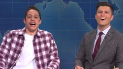 Pete Davidson Hints On 'SNL' He's Off To Another Stint In