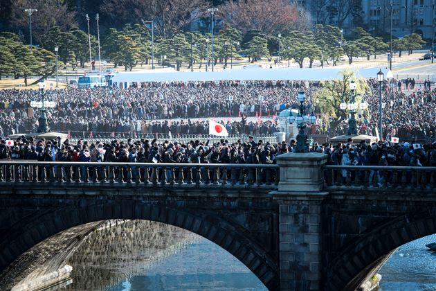新年一般参賀の二重橋