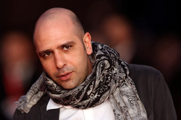 Italian actor and comic Checco Zalone arrives for a red carpet event to meet the public at the Rome Film...