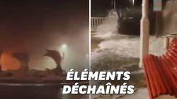 Les images de la tempête Fabien qui a violemment frappé plusieurs