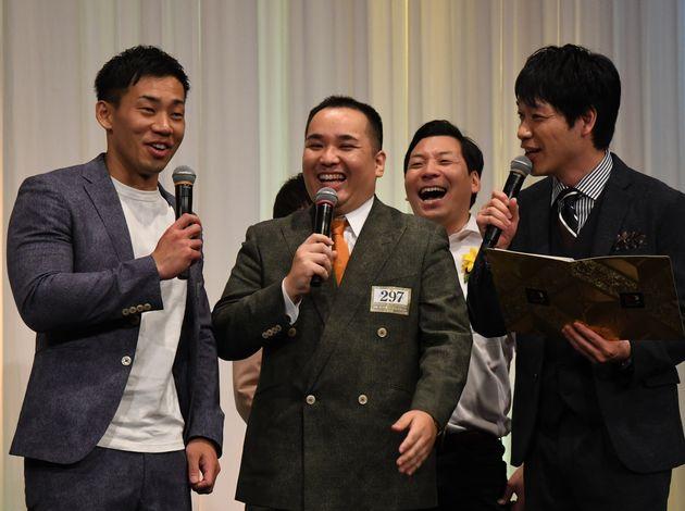 (左から)ミルクボーイの駒場孝さん、内海崇さん