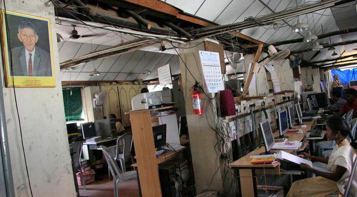 A vocational training centre for Tamil refugees at Egmore, Chennai.