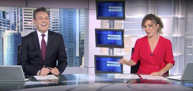 Ángeles Blanco y José Ribagorda, presentadores de 'Informativos Fin de Semana' de