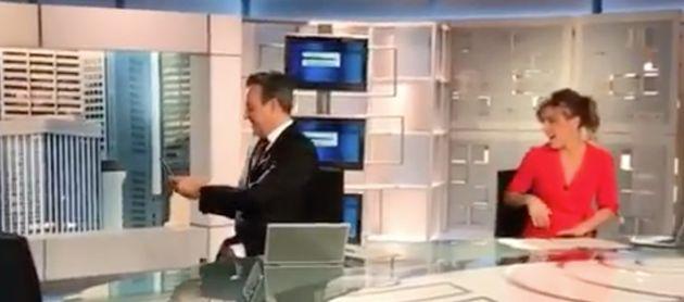 José Ribagorda y Ángeles Blanco, presentadores de 'Informativos Telecinco Fin de