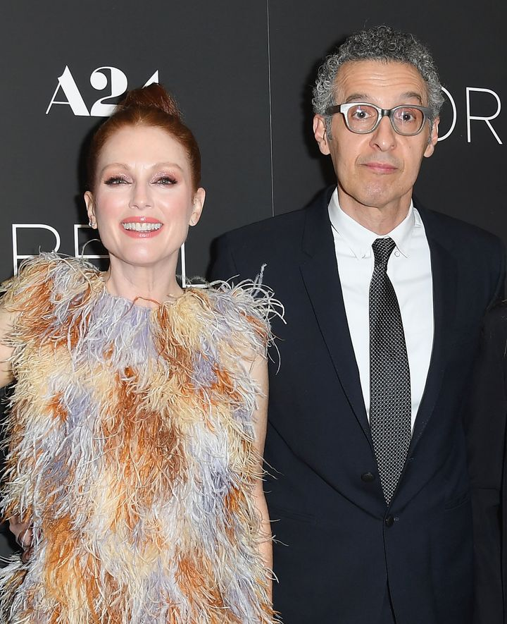 "Julianne Moore and John Turturro attend a screening of ""Gloria Bell"" in March."