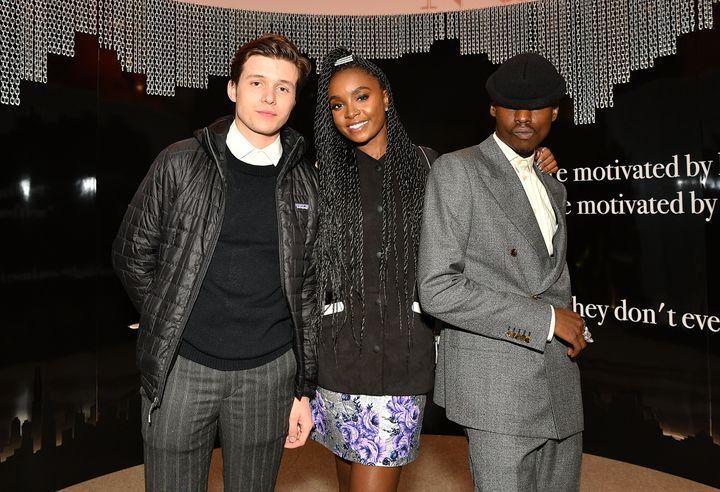"Nick Robinson, Kiki Layne and Ashton Sanders, stars of HBO's ""Native Son."""