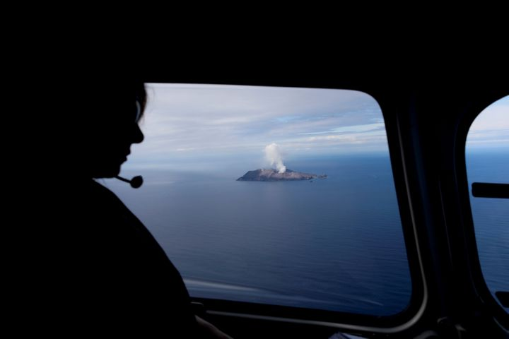 An aerial view of the Whakaari, also known as White Island volcano, in New Zealand, December 12, 2019. REUTERS/Jorge Silva&nb
