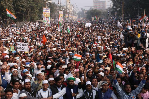 A protest in Kolkata on 22 December,
