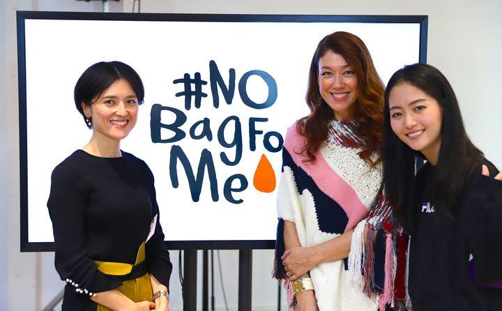 (左から)ファシリテーターを務めたソフィ ブランドマネージャーの長井千香子さん、LiLiCoさん、ハヤカワ五味さん