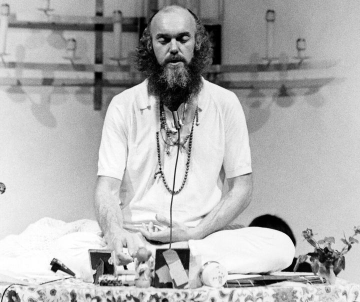 American spiritual teacher Baba Ram Dass meditates in this 1970 file photo.