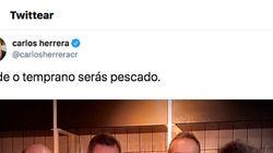 Carlos Herrera da mucho juego en Twitter al publicar esta foto: la clave es la