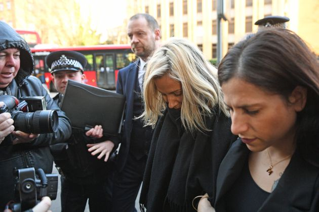 TV presenter Caroline Flack arrives at Highbury Corner Magistrates' Court charged with