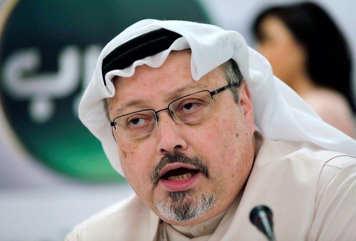 Washington Post columnist Jamal Khashoggi was murdered in the Saudi Consulate in Istanbul last year by a team of Saudi agents. (AP Photo/Hasan Jamali, File)