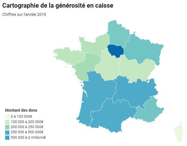 Micro-dons en France en 2019 (Chiffres collectés à fin octobre
