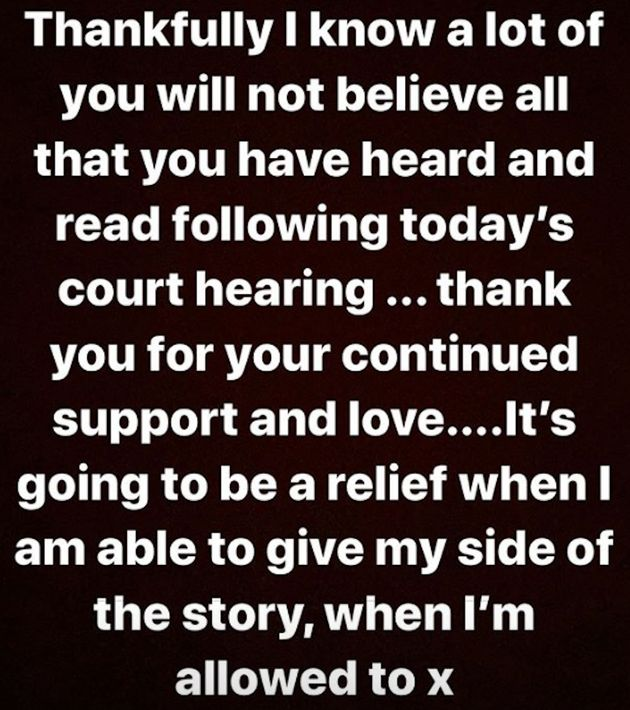 Caroline shared this message following the