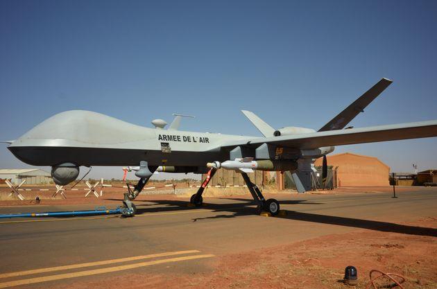 Un des drones Reaper de l'armée française opérant au