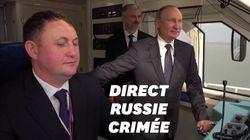 Poutine inaugure le train qui relie la Russie à la