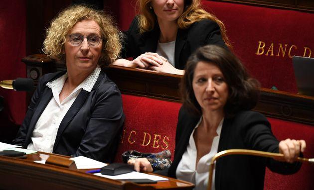 La ministre du travail Muriel Penicaud à gauche et la ministre de la Santé Agnes Buzyn...