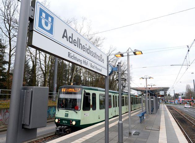 La ligne 66 du tramway a Bonn où s'est déroulé