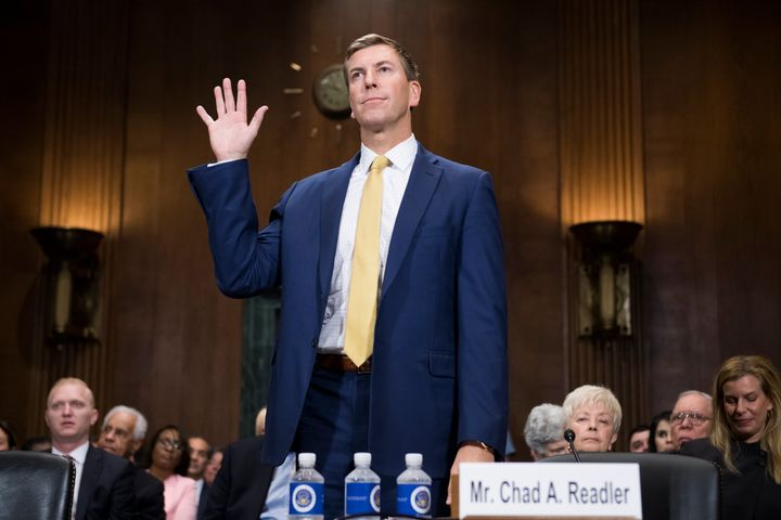Chad A. Readler, nominee to be U.S. Circuit Judge for the Sixth Circuit, is sworn in to a Senate Judiciary Committee hearing