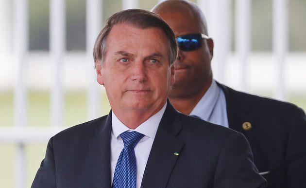 Jair Bolsonaro, ici le 12 décembre à Brasilia, a été hospitalisé après...