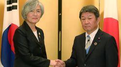 강경화 외교부 장관이 모테기 일본 외무상을