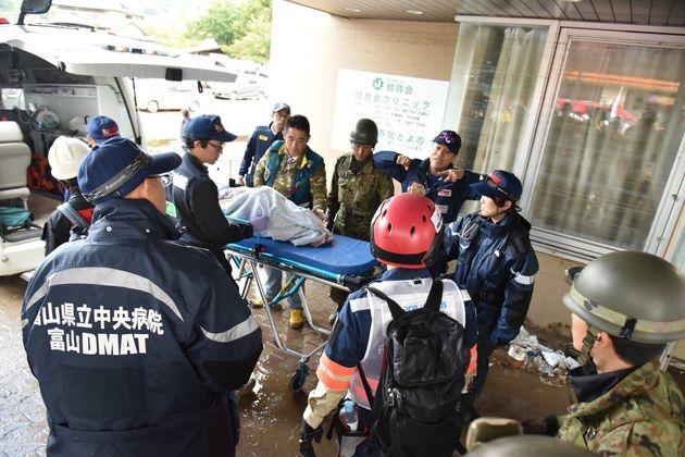 台風19号で被災した長野県での支援活動=シビックフォース提供