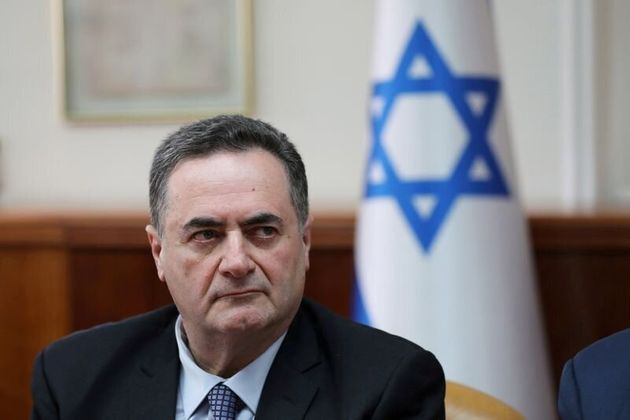 FILE PHOTO: Israel's acting foreign minister Israel Katz, who also serves as intelligence and transport...