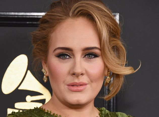 La cantante Adele, en los premios Grammy el 12 de febrero de