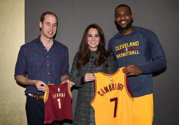 Will and Kate pose with LeBron James after the