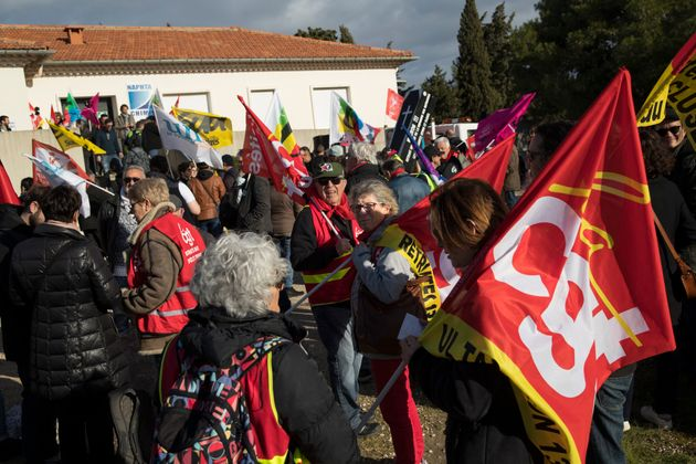 Des manifestants CGT le 14