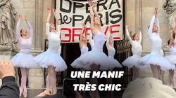 Contre la réforme des retraites, la performance de ces danseuses devant l'Opéra de