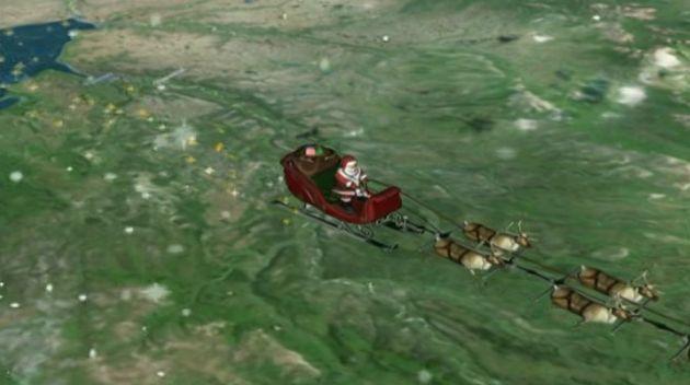 La tournée du Père Noël suivie de près par l'ISS et l'armée