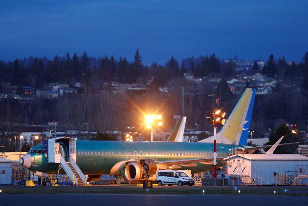 Un Boeing 737 Max sur le tarmac d'un aéroport le 16 décembre