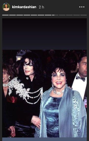 Elizabeth Taylor et Michael Jackson, en 1997.