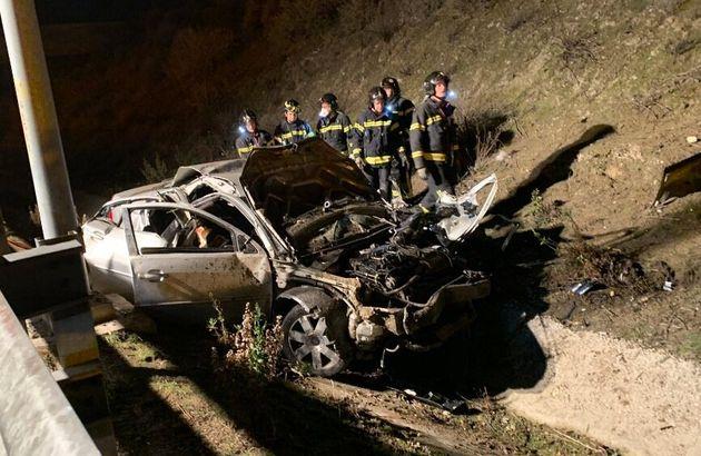 Estado del vehículo accidentado en la