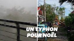 La soirée de Noël a été gâchée par un violent typhon aux