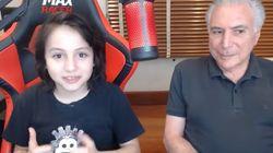 Michelzinho entrevista Temer no YouTube e vídeo