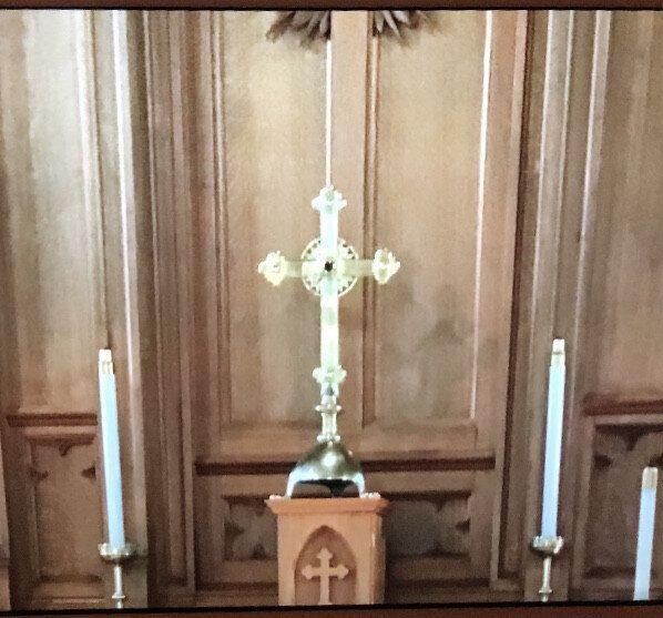 Croix de l'église Trinity Anglican à
