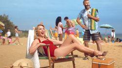 Cette publicité de Kylie Minogue pour l'Australie ne tombe pas au meilleur