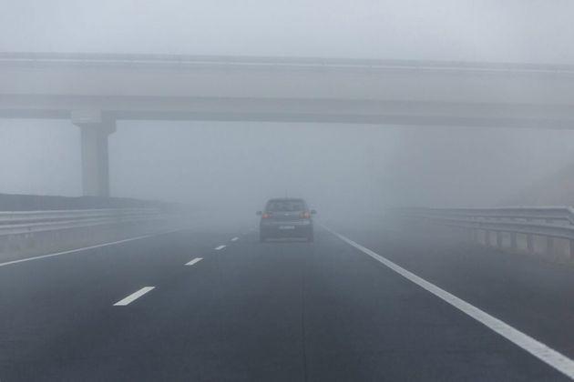 La niebla afecta la visibilidad de 180 kilómetros de carreteras de Castilla y