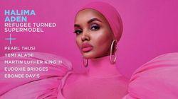 Une femme noire en hijab en couverture du magazine