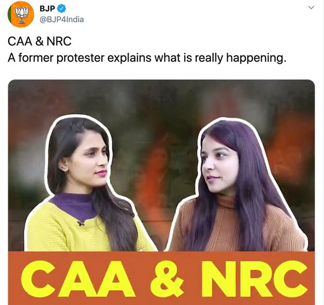 Twitter Isn't Buying BJP's Bizarre Video Explaining CAA Protests