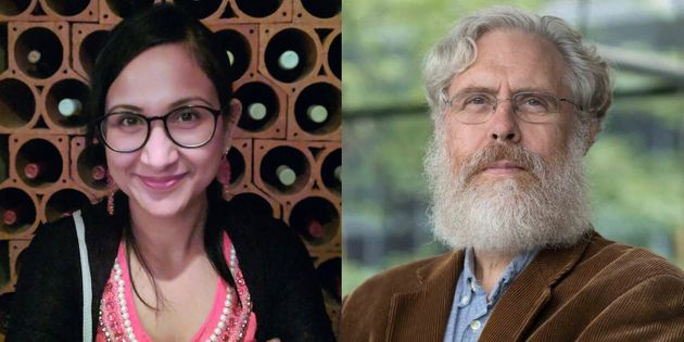 The digiD8 founders, Bhargavi Govindarajan (L) and George Church