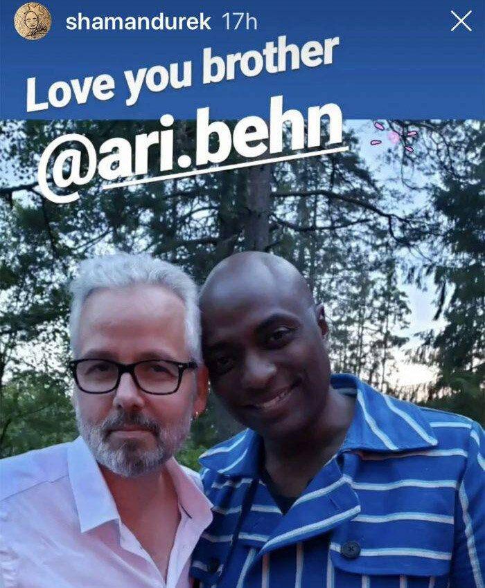 Ari Behn y Durek Berret
