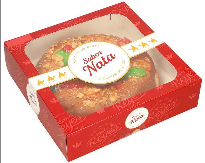 Roscón de Reyes sabor nata de la cadena de supermercados Dia.