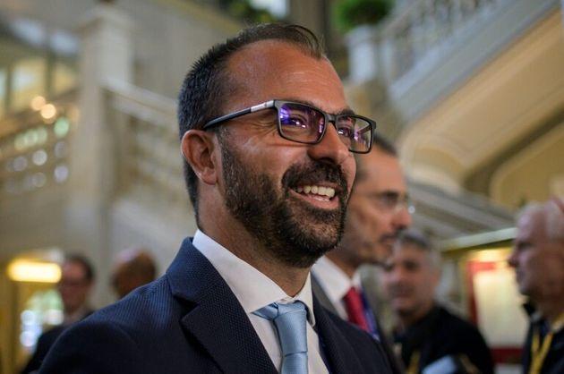 (Arquivo) O ministro da Educação italiano Lorenzo Fioramonti chega para participar da 45ª edição do fórum...