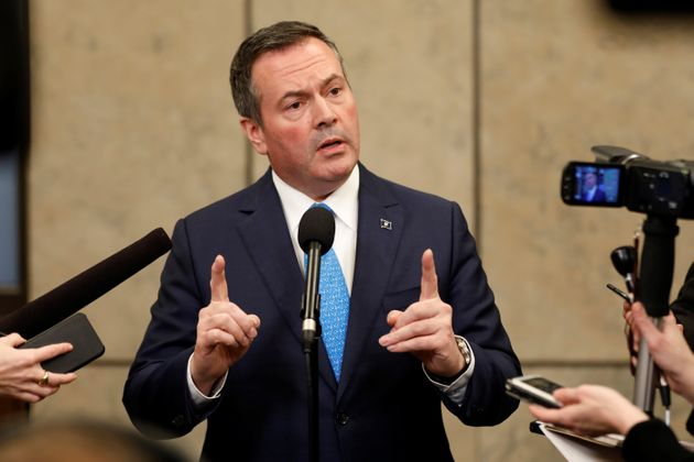 Alberta Premier Jason Kenney speaks during a news conference on Parliament Hill in Ottawa, Dec. 10,