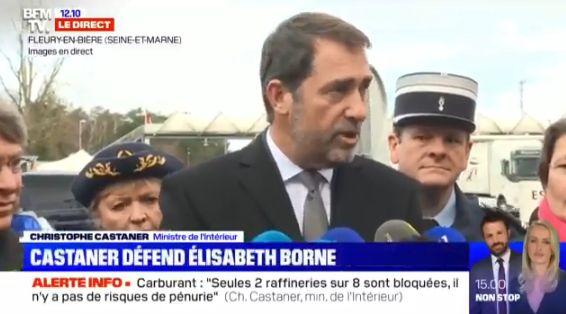 Christophe Castaner, ministre de l'Intérieur, en Seine-et-Marne le 26 décembre